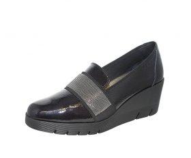 Zapatos 24Horas mocasín negro charol 23450 Invierno