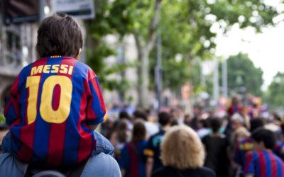 ¿Qué botas lleva MESSI jugador del F.C. BARCELONA?