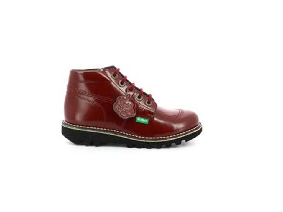 Botas Kickers Neorally rojo red, botines mujer