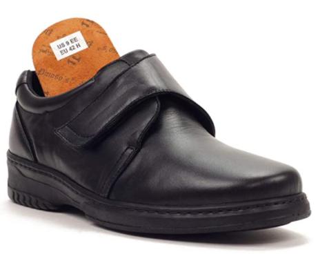 Zapatos Pinosos velcro negro diabético 6176H