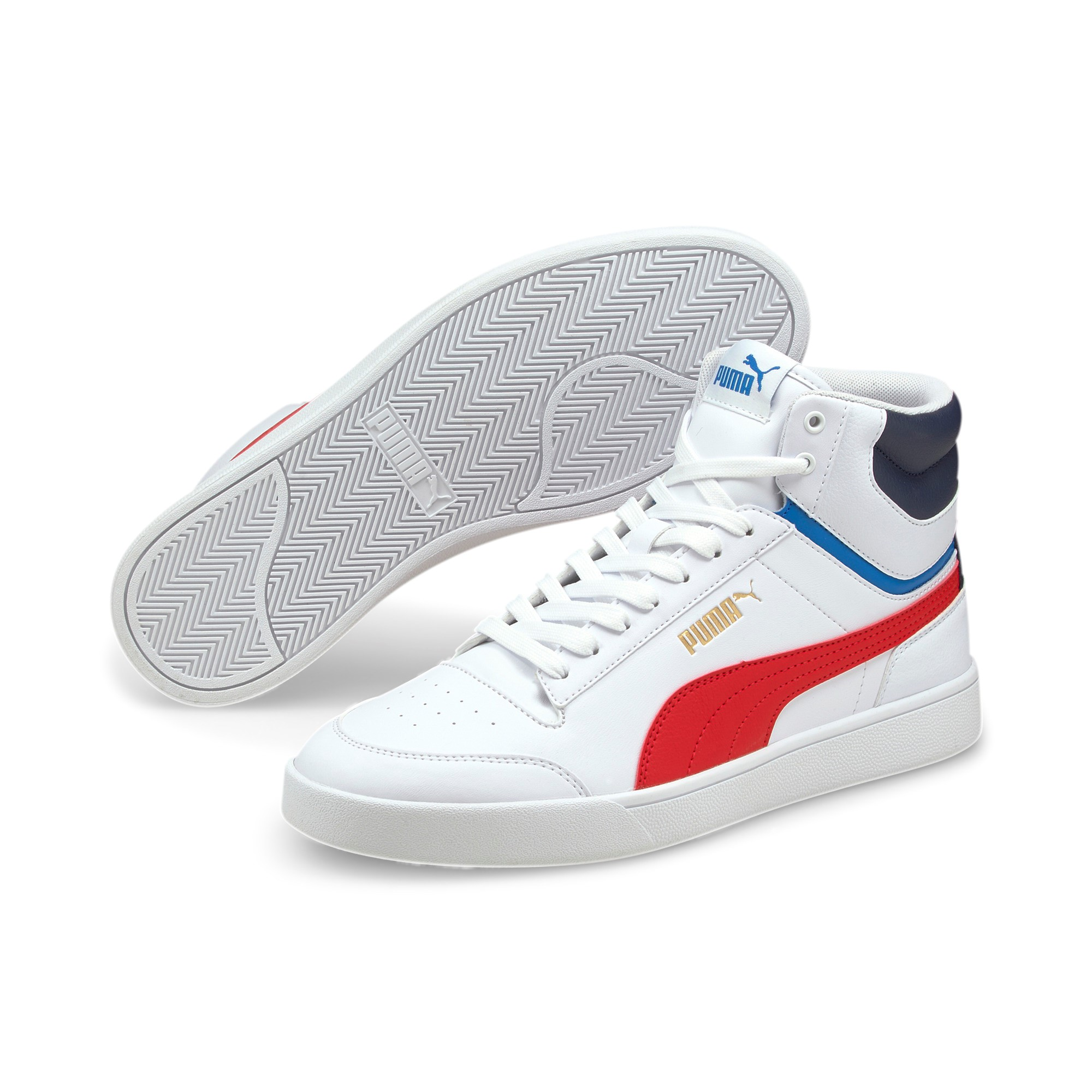 Puma mid white red 380748 03 Shuffle Mid