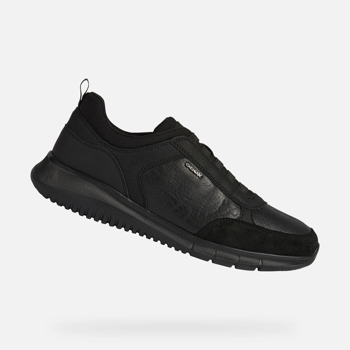 Geox sneakers black nero Monreale elastic
